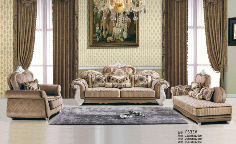 Luxury Leather Sofa, Dubai New Classic Sofa (F533)