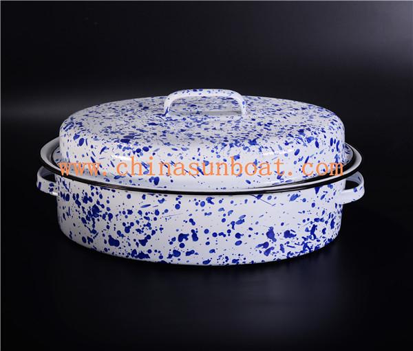 Sunboat Enamel Roaster Cooker Kitchenware Stock Pot Kitchenware/ Kitchen Appliance