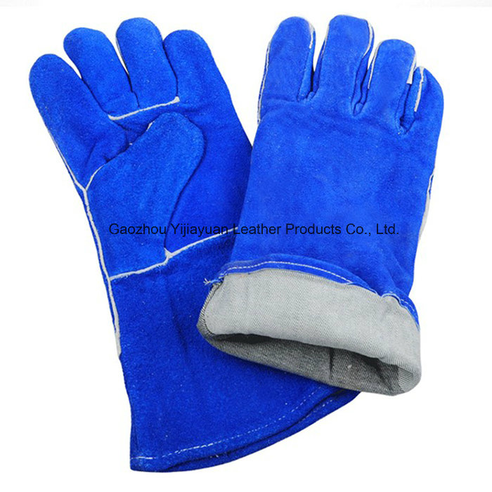 Ce En407 Leather Protection Hand Welding Gloves