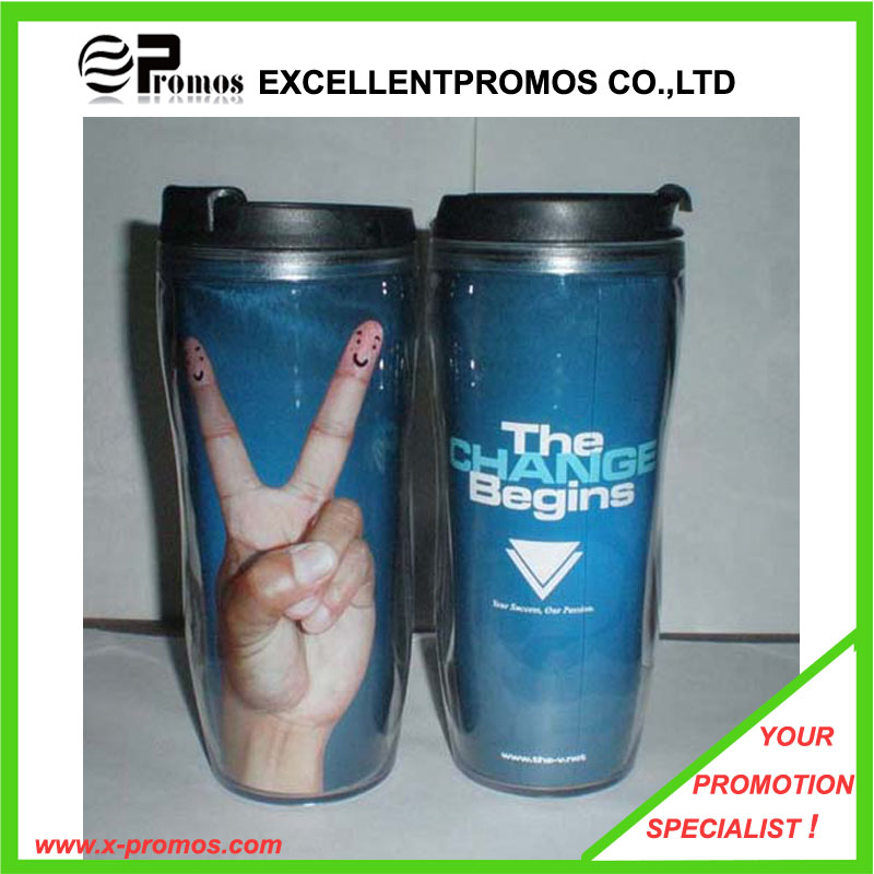 Promotional Customized Plastic Sports Water Bottle with Suction Nozzle (EP-B58411)