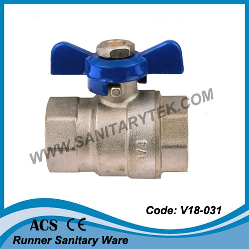 Brass Ball Valve with a Butterfly Handle (V18-031)