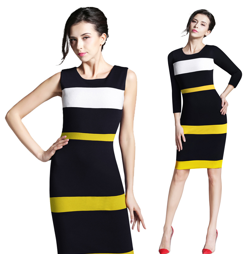 Sleeveless Office Dress Bodycon Dress Nice Office Lady Working Dress