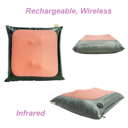 Massage Pillow Cushion Rechargeable Cordless Kneading Body Massager
