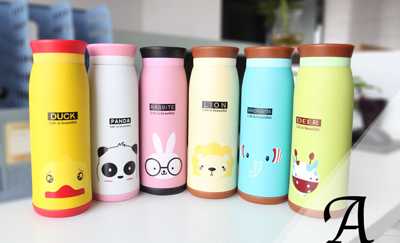 260ml Cute Animal Stainless Steel Vacuum Cup Portable Thermos Cup for Baby