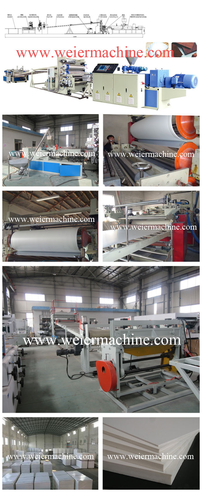 Plastic Machinery with High Automatic for PVC Surface Crust Celuka Foam Sheet Extrusion Line