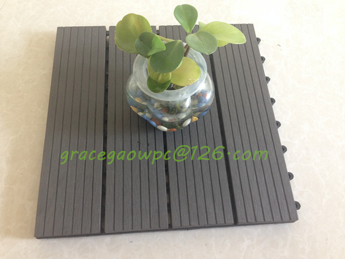 Wood Grain Solid Tile Anti-Crack DIY Tile for Balcony