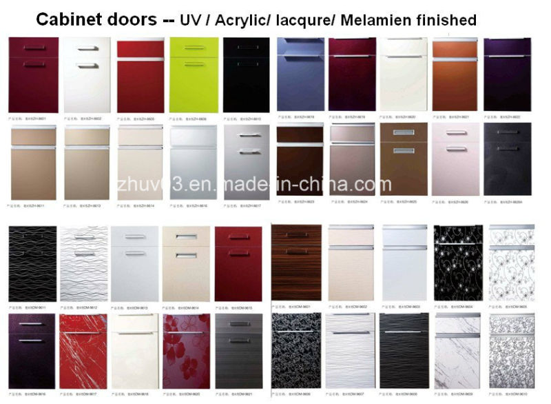 Water Proof Anit Scartch Kitchen Cabinet Doors with Many Colors (customized)