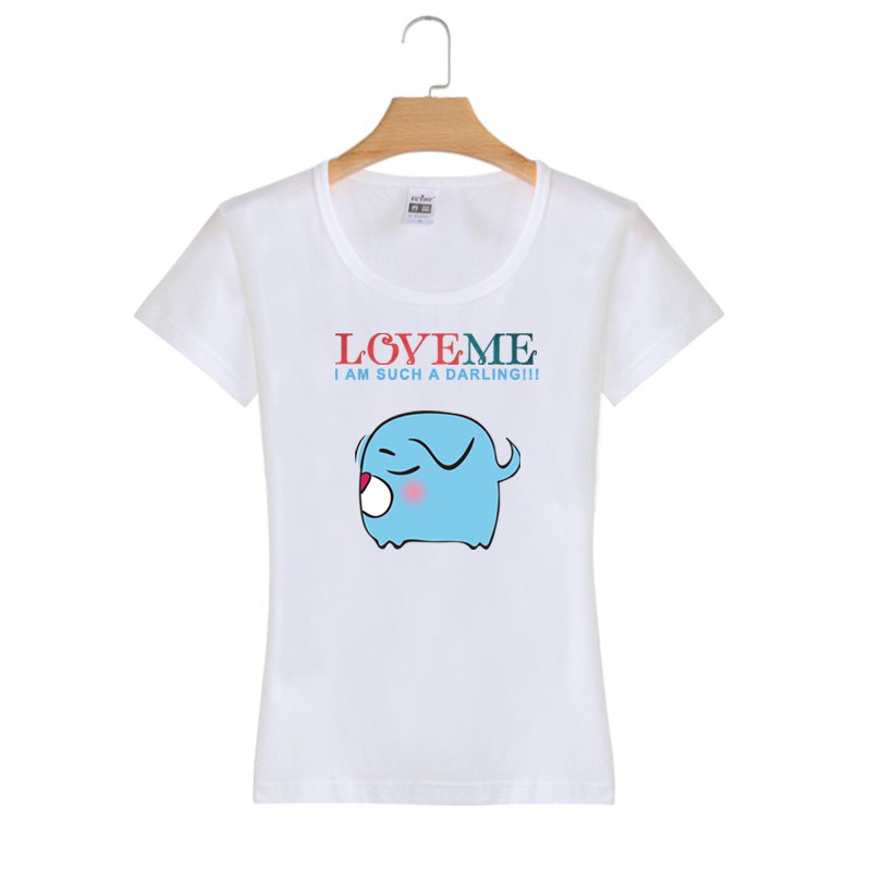 Top Quality Wholesale Custom Cotton Fashion Printing Summer Women T Shirt