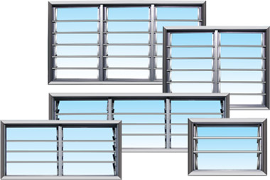 Modern Adjustable Residential Frame Glass Window Louvre