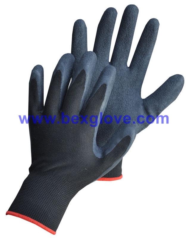 Latex Wrinkle Finish Garden Glove