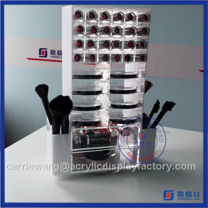 High Quality Black Rotating Acrylic Lipstick Stand