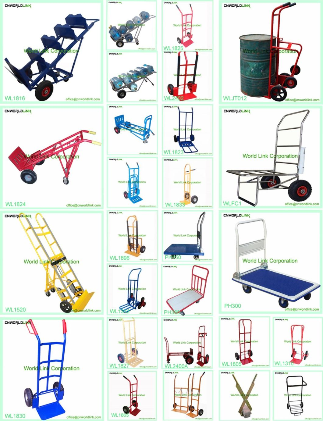 Warehouse Hand Trolley Industrial Trolley Carts for Wholesale