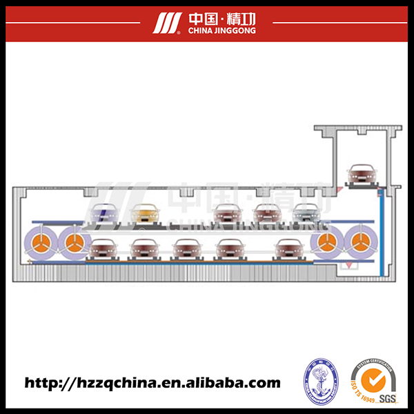 Professional Automated Car Lift Parking with Circulating Rotary System