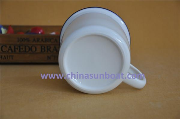 Sunboat Ceramic Mug Retro Imitation Enamel Cup, China Style Enamel Mugs Tableware