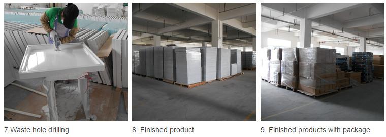 Sanitary Ware SMC 4 Side Lips Shower Tray Fiberglass Shower Base (ASMC9090-3)