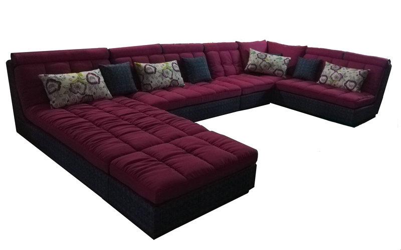 New Style, Big U Shape Fabric Sofa (W11)