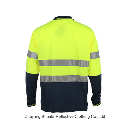 New Fashion Safety Reflective Traffic Polo Shirt with Long Sleeve
