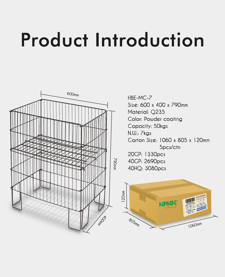 Supermarket Wire Mesh Display Table for Promotion