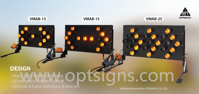 China Supply Outdoor Traffic Safety Warning Lamps Directional Lighted Arrow Board Trailer 15 & 25 Light Models
