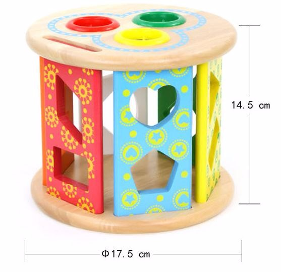 wooden shape sorter intelligence toy