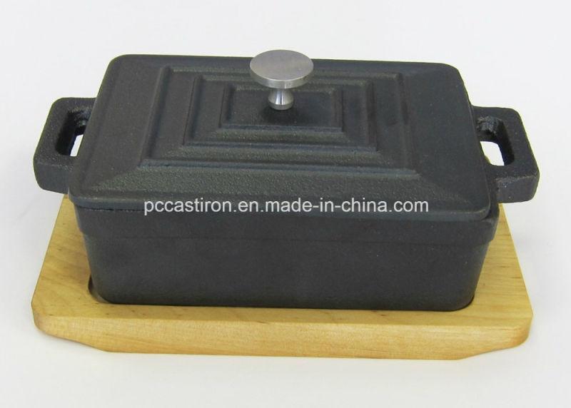 Preseaseond Cast Iron Mini Sauce Pot Size 12.5X9X4.5cm