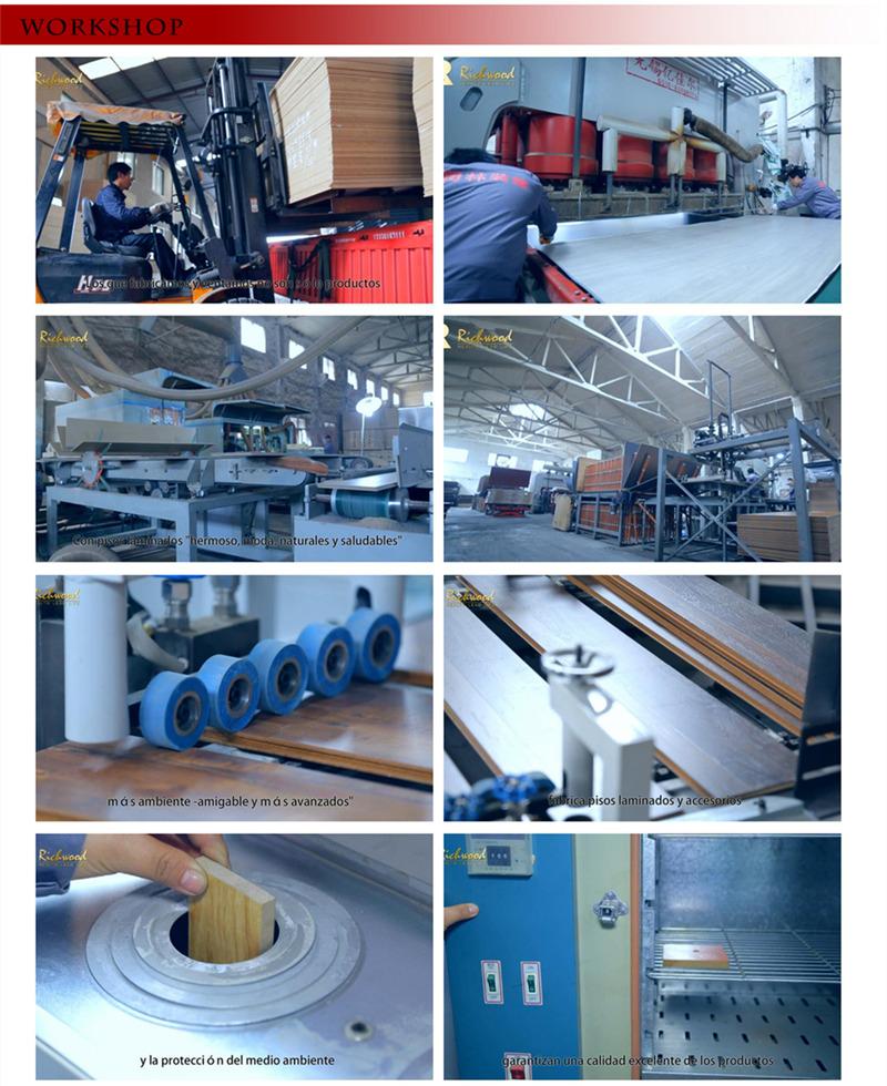 Pearl Surface Wax Coating HDF Laminate Laminated Flooring