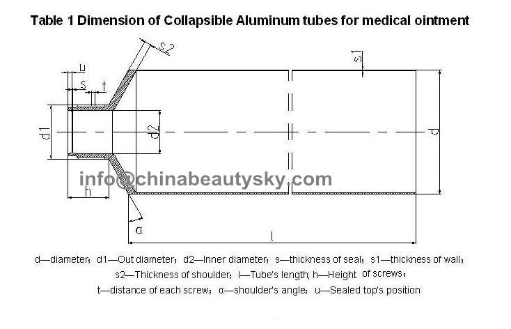 Eye Ointment Tube Good Quality Cosmetice Aluminum Tube