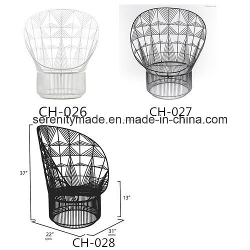 Stylish Peacock White Metal Wire Outdoor Garden Chairs