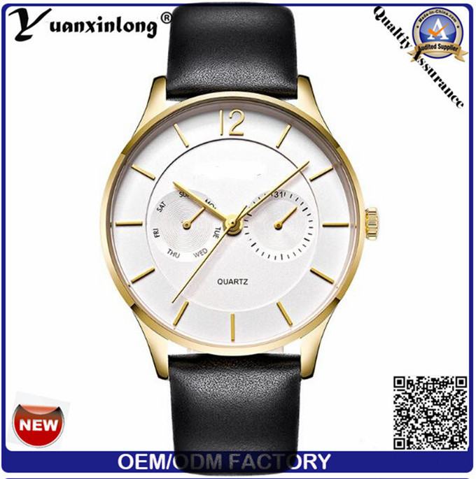 Yxl-563 Men Women Business Gold Watch Stainless Steel Wrist Watch 2016 Big Dial Stainless Steel Wrist Watches