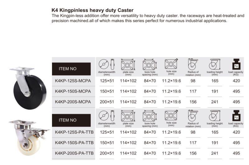 Mc Nylon Kingpinless Heavy Duty Caster