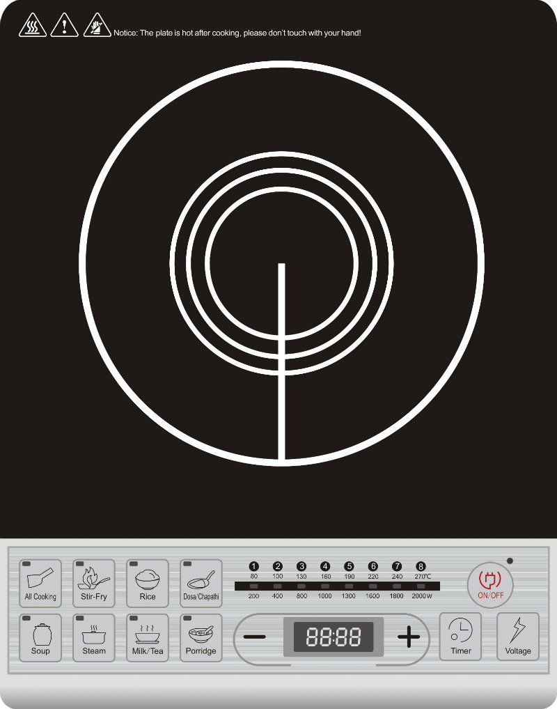Push Button Big Size Induction Cooker with Voice Function