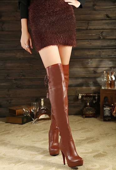 New Collection Fashion High Heel Thigh High Women Boots (Y 45)