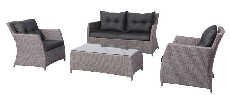4PCS Delicate Wicker Outdoor Lounge Sofa Furniture Setting