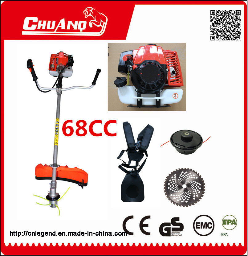 68cc Rotatable Handle Gasoline Brush Cutter Big Power Brush Cutter Grass Trimmer