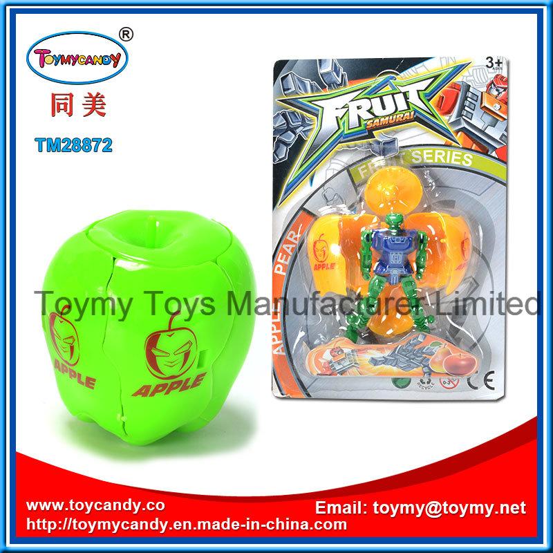 Hot Sale Cartoon Fruit Apple Transformance Robot Toy