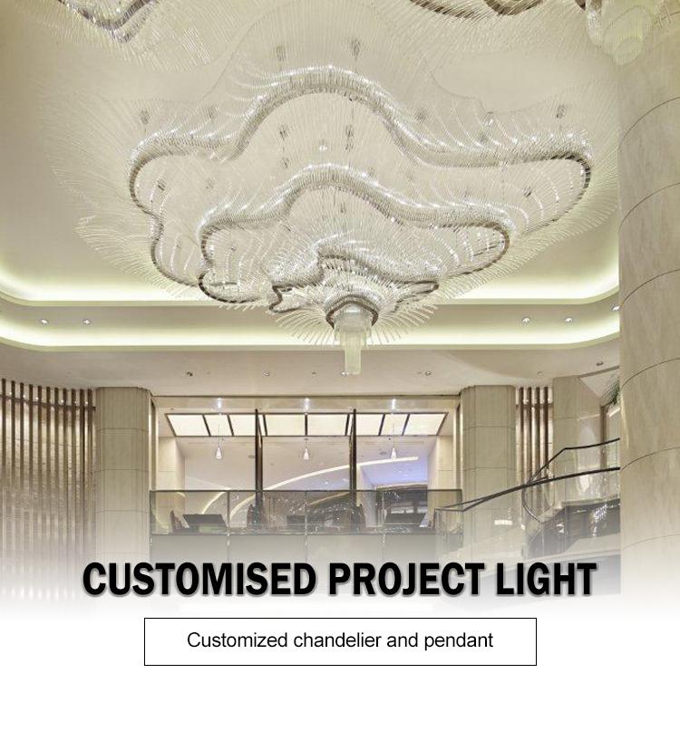 transparent crystal chandelier pendant light