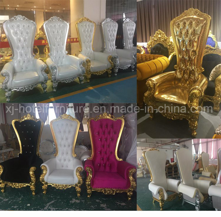 Solid Wood King and Queen Chair Throne Sofa for Hotel Restaurant Wedding