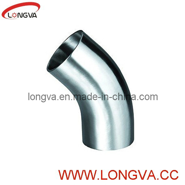 Polished Sanitary Stainless Steel Butt Welded Elbow