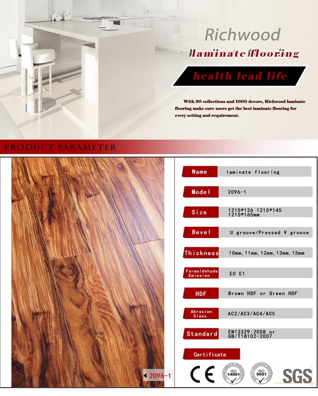 Vinyl Plank 12mm HDF White Oak Handscraped Laminated Wood Flooring