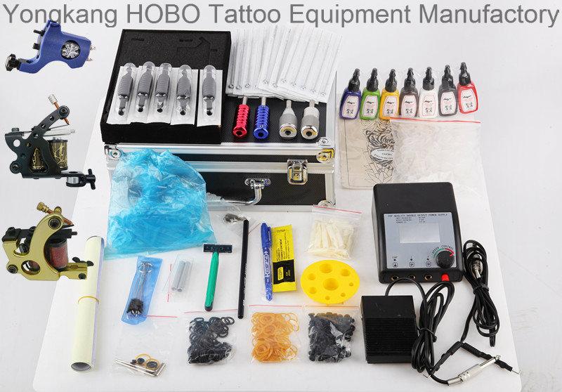 Professional Tattoo Kits with Tattoo Machines Gun Accessories Power Supply