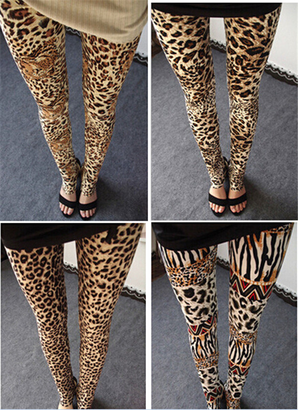High Quality Stretchy Women's Leopard Print Leggings (78032)