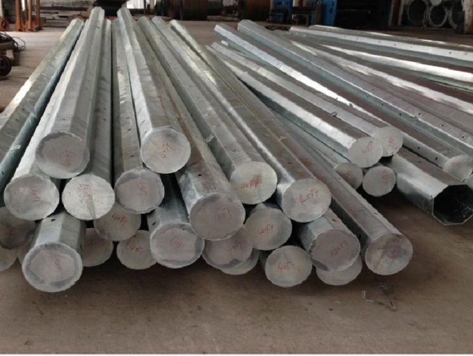 Tubular Column Round Galvanized Electric Steel Pole