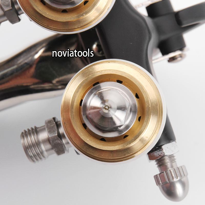 Double Nozzle/Dual Head/Two Components/Silver/ Chrome Spray Gun PT-30