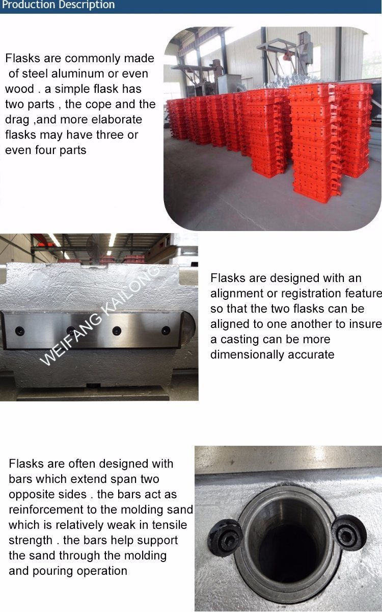 Disa Moulding Flask Casting Sand Casting Gray Iron Casting Parts