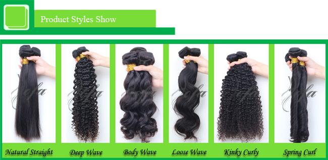 100% Brazilian Human Hair Extension Remy Mink Virgin Hair
