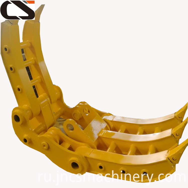 Q345B excavator attachment hydraulic rotating log grapple