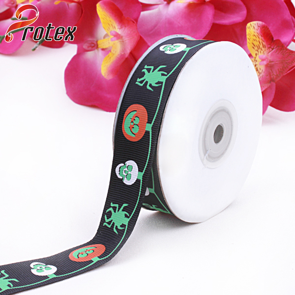 Halloween Printed Grosgrain Ribbon