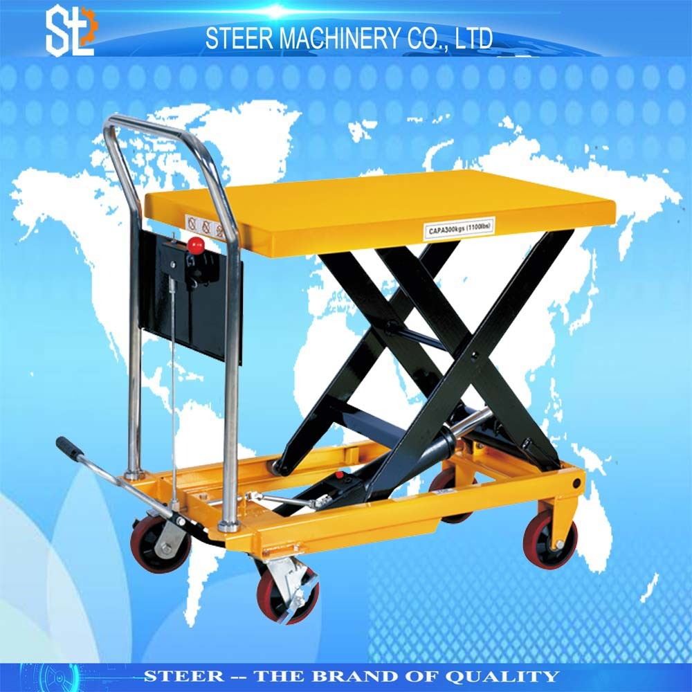 Hand Trolley Lifting Table Cart