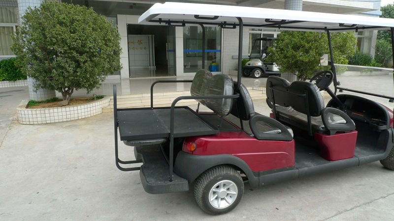 48V 4 Wheels 6 Seater Alum Chassis Electric Golf Car