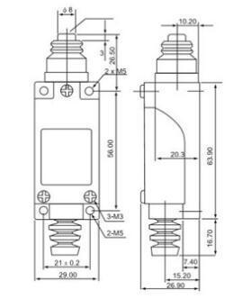 Yumo 5A 250VAC Tz-8111 Mirco Limit Switch